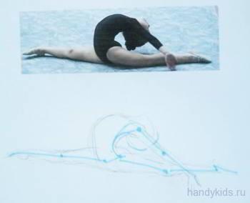 как нарисовать гимнастку в картинках