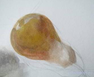 Как рисовать грушу