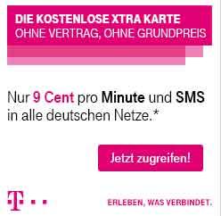 Kostenlose Xtra Karte - 9 Cent Min/SMS