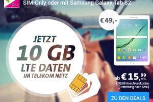Internet Flat 10 GB LTE Telekom nur 15,99€ mtl.