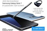 SAMSUNG GALAXY NOTE 7 + ALLNET-FLAT XL + 2GB nur 29,99€ mtl.