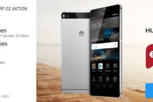 Huawei P8+ 50 Min+ 50 SMS + 1GB nur 9,99€ mtl.