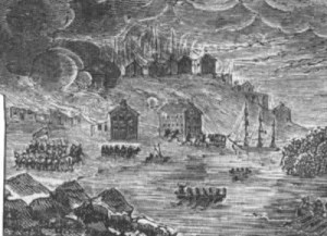 British burned Buffalo, N.Y., during the War of 1812