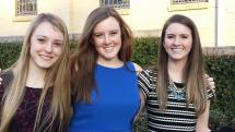 My friends Sarah and Riley (from L to R) and me at Ring Mass 2014
