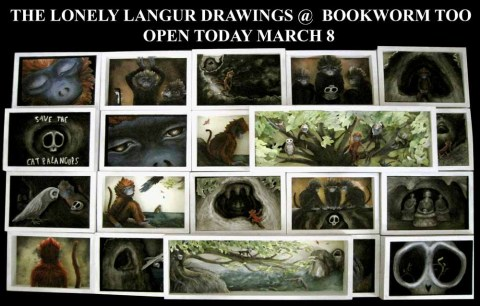 The Lonely Langur Drawings