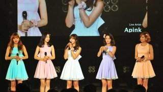 Apink、「日本女子博覧会」で新曲を披露、モデルとして出演も