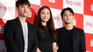 「ロッテ免税店銀座」オープン!チェ・ジウ、EXO チェン、ディオがお祝いに