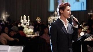 JYJジュンスがファン・ジョンウムの結婚式で祝歌を歌った姿が公開