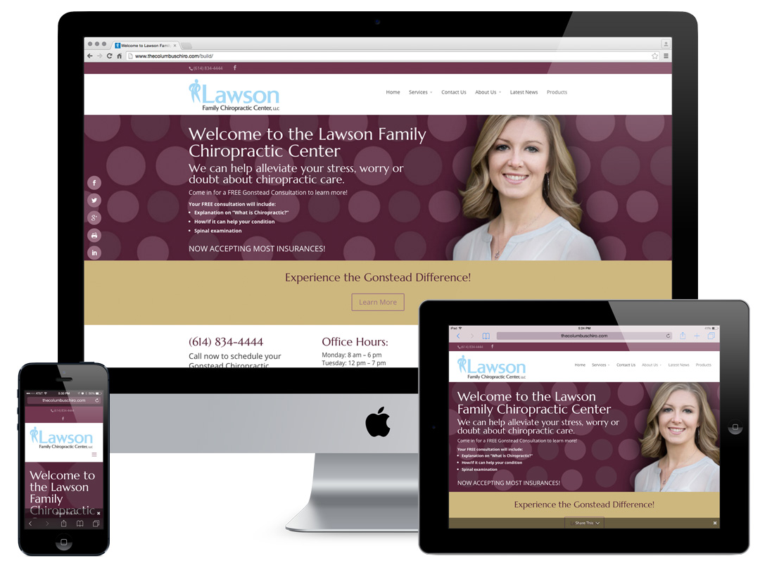 Lawson Family Chiropractic Center Website