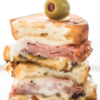 Hot Muffuletta Sandwich