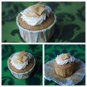 Pumpkin Cupcakes with Goat Cheese Frosting and Quince-Ginger Compote