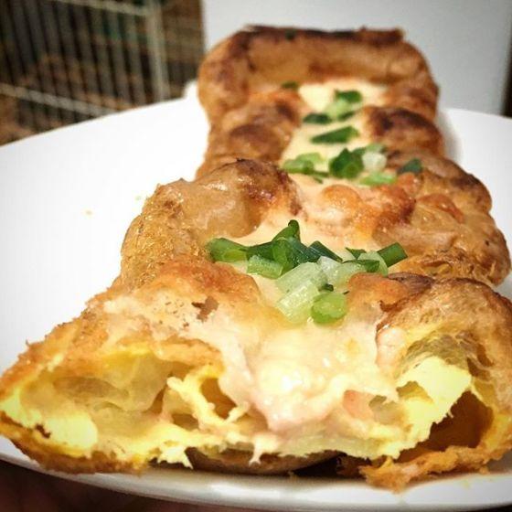 卵デニッシュの明太マヨチーズ焼き