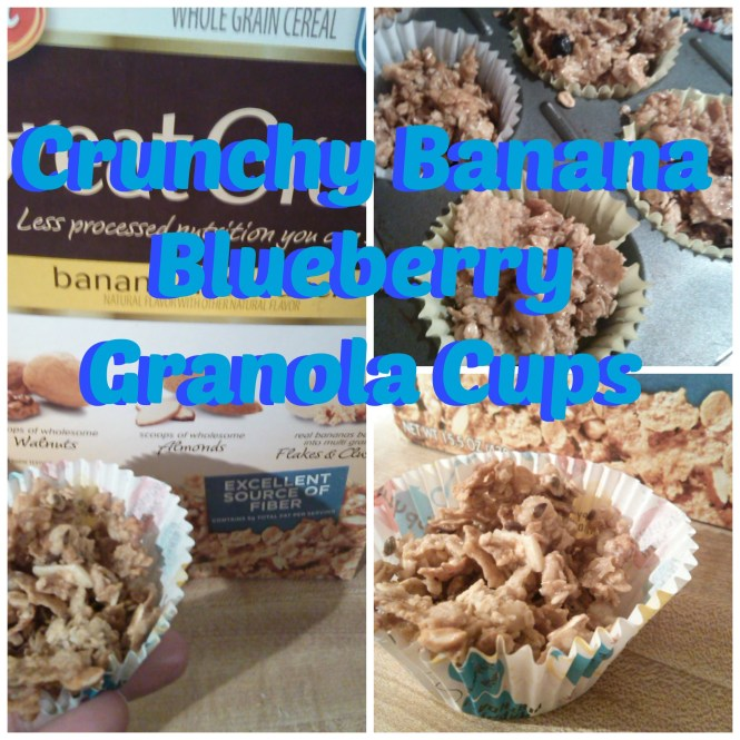 Crunchy Banana Blueberry Granola Cups