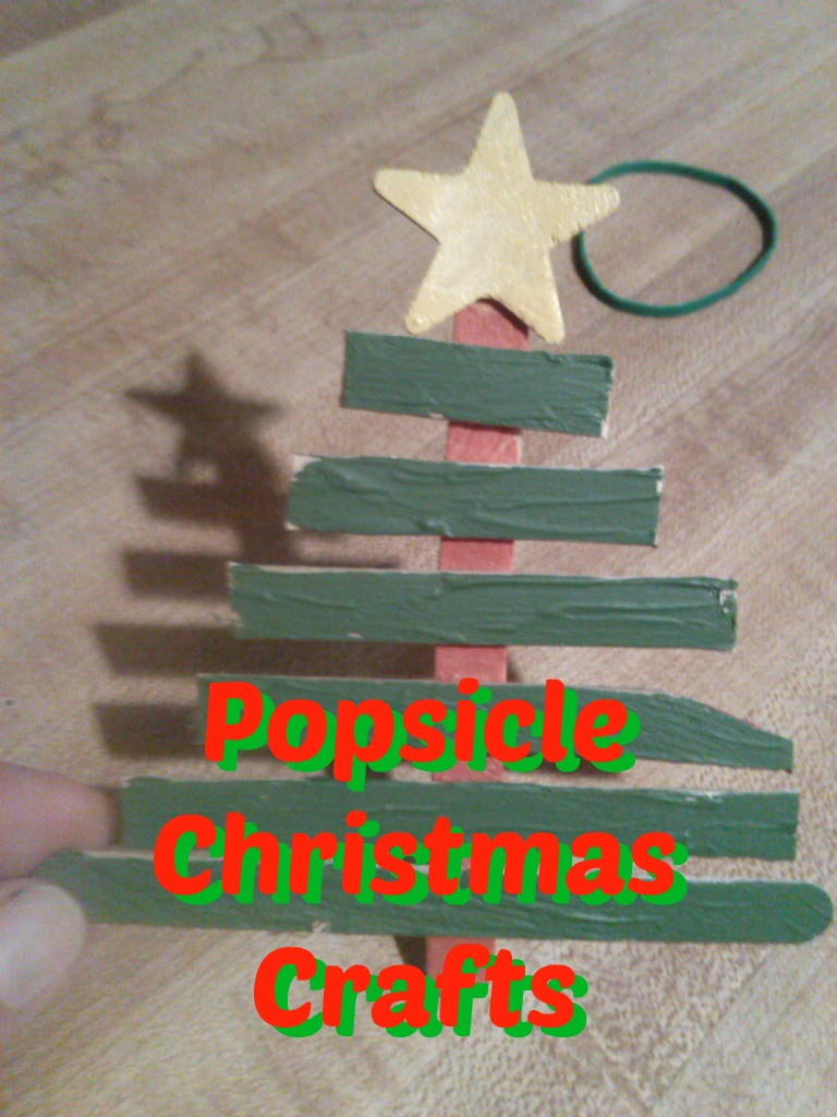 Oh Christmas Tree and Popsicle Crafts for Christmas Break #crafty #DIY