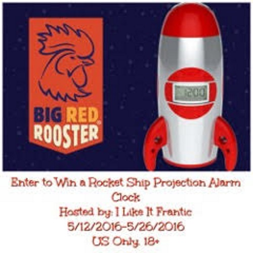 Rocket Ship Projection Alarm Clock Giveaway