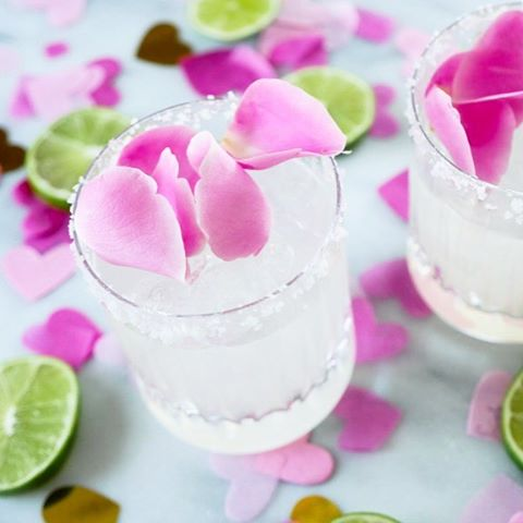 Still swooning over these Rosewater margaritas I made last Valentineshellip