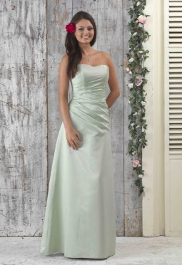 EN040 Strapless Satin Bridesmaid Dress_72px