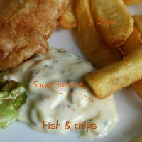 Fish and chips sauce tartare