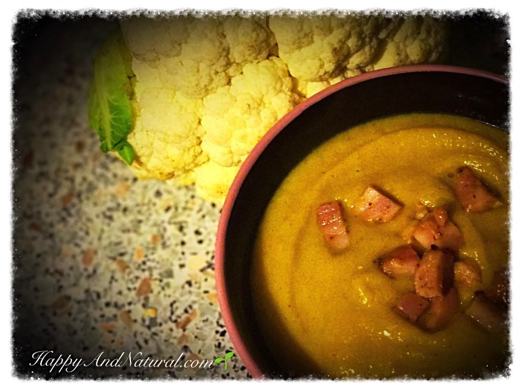 Палео Крем Суп из цветной капусты
