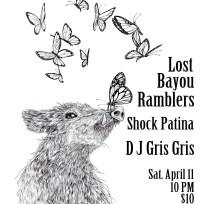 Lost Bayou Ramblers/Shock Patina show poster