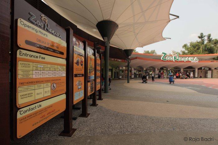 Entrance to Zoo Negara Malaysia