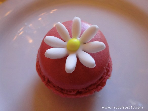 Macaron served for Afternoon Tea