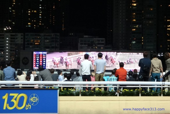 action and lots of motion at the Happy Valley Racecourse in Hong Kong