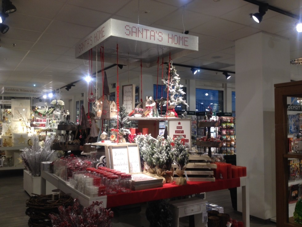 weihnachtlich dekorieren mit depot happyface313. Black Bedroom Furniture Sets. Home Design Ideas