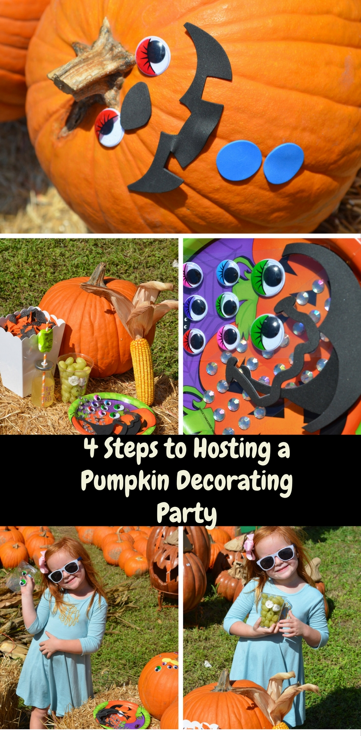 4 Tips for Hosting a Pumpkin Decorating Party by Happy Family Blog