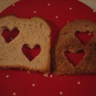 cut out hearts bread
