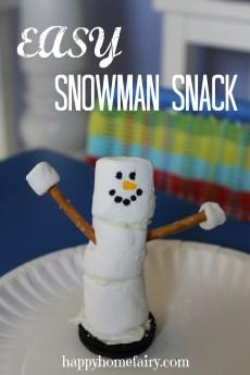 Easy Snowman Snack