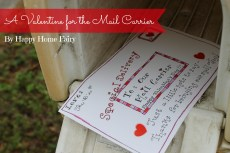 A Valentine for the Mail Carrier – FREE Printable!