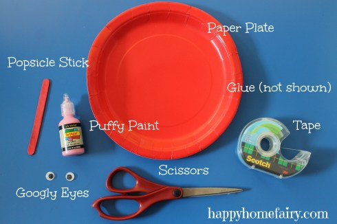 plate heart puppet at happyhomefairy.com