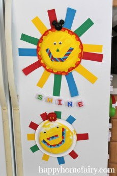 Easy Summer Sun Paper Plate Craft