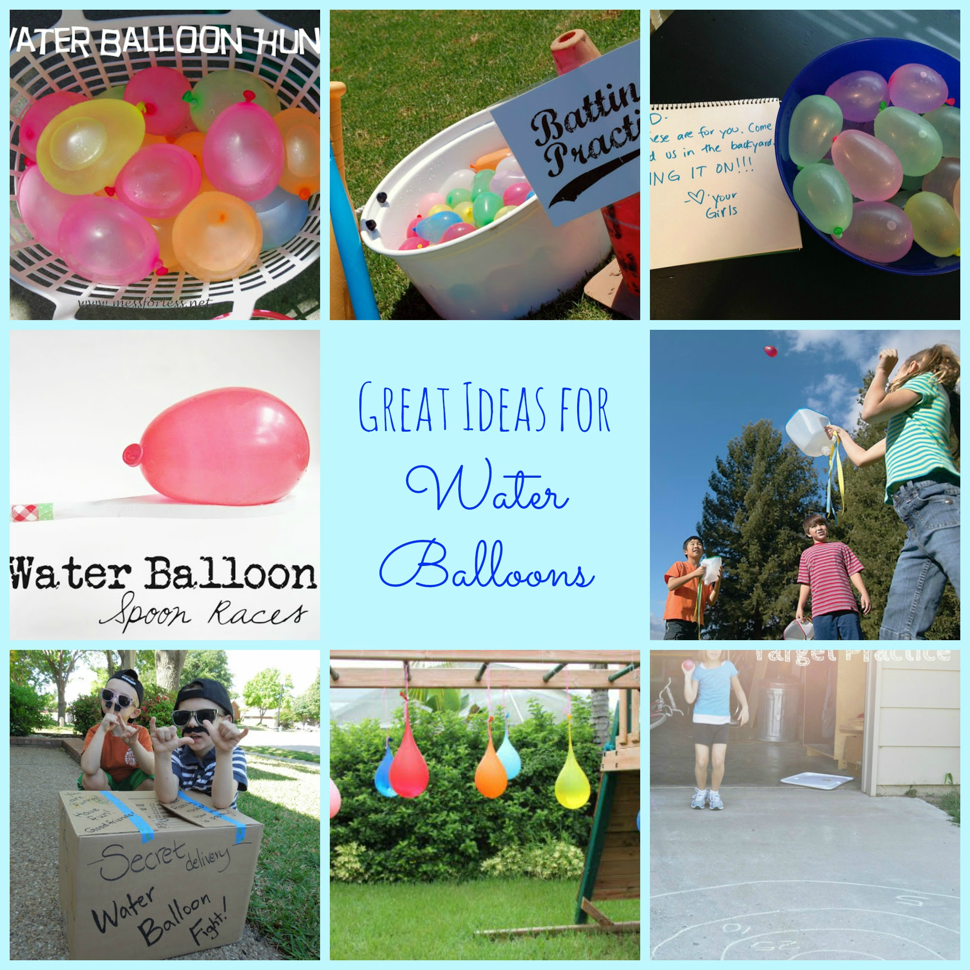 10 great ideas for water balloons happy home fairy for Balloon ideas for kids