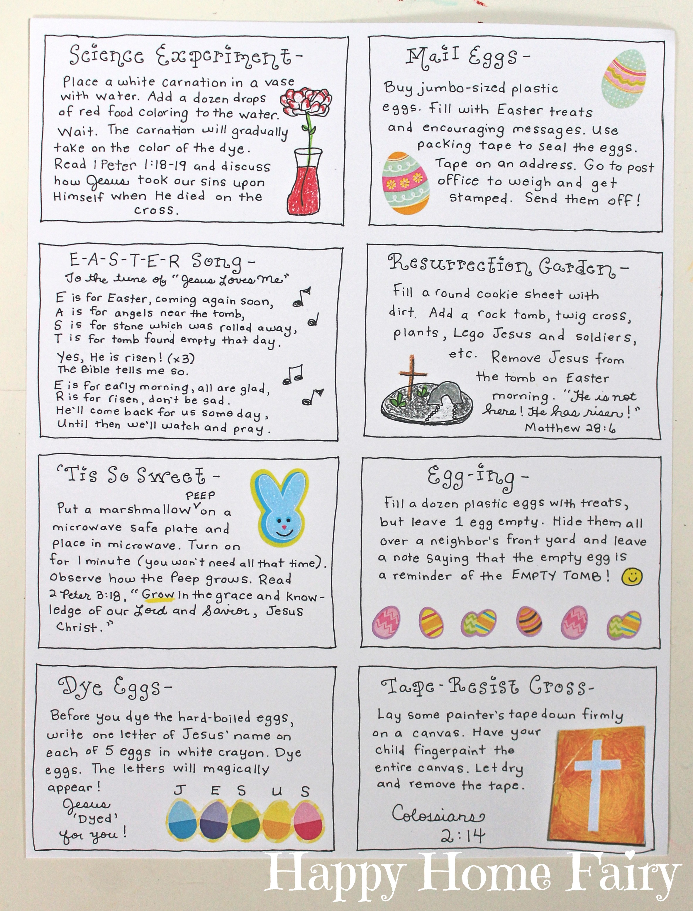 The Joy Journey Christ Centered Easter Activities Free