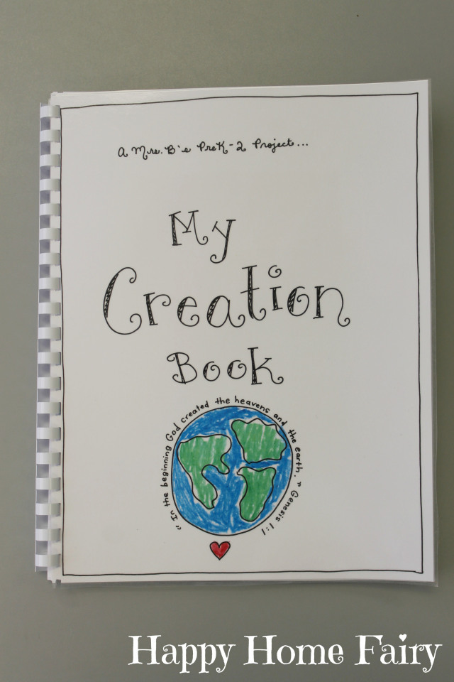 Book Cover Craft Books : Creation book free printable happy home fairy