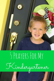 5 Little Prayers For My Kindergartener