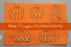 Easy Pumpkin Counting Activity