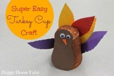 Super Easy Turkey Cup Craft