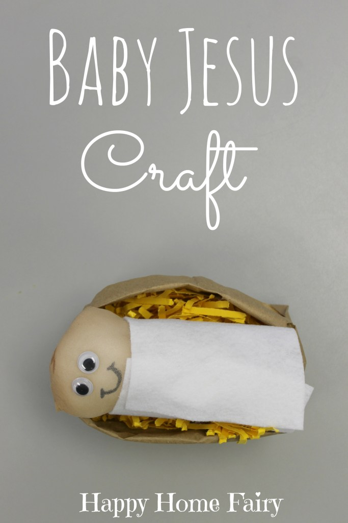 Baby jesus craft love this little doll is made out of a pantyhose