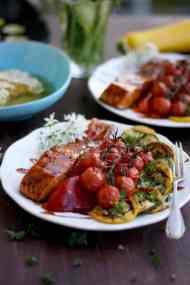 Honey Glazed Salmon with Summer Vegetables