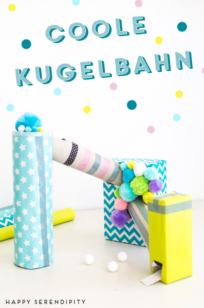 kugelbahn diy schnip schnap anita scheiner bastelbuch, rezension von happy serendipity