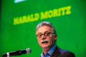 Harald Moritz spricht auf der Landesmitgliederversammlung