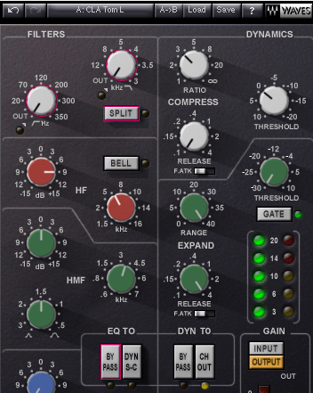 Waves SSL Channel Preset: CLA Toms