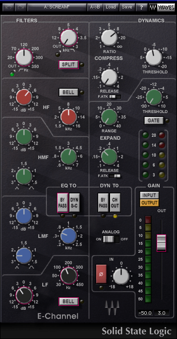 SSL Channel Preset - Scream Vocals