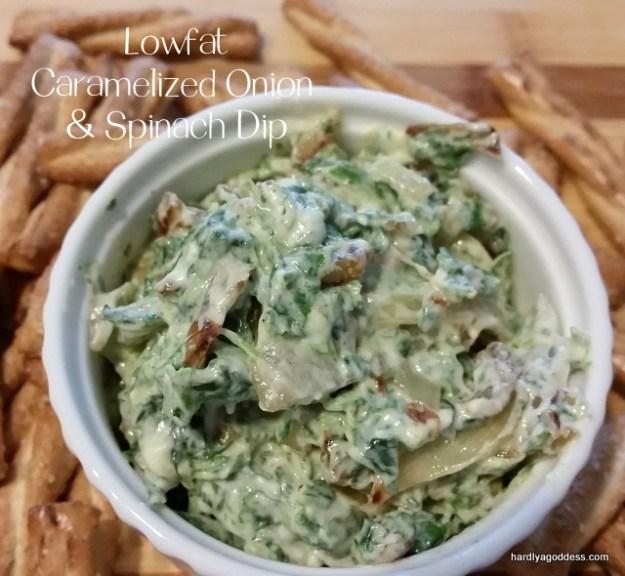 lowfat caramelized onion dip