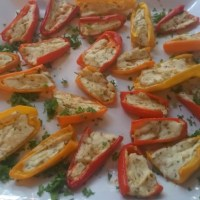Mini Sweet Peppers with Goat Cheese & Honey