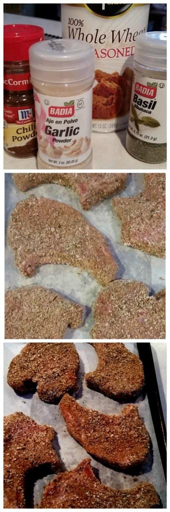 Oven Baked & Breaded Pork Chops P