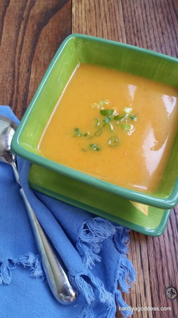 carrot mango coconut soup